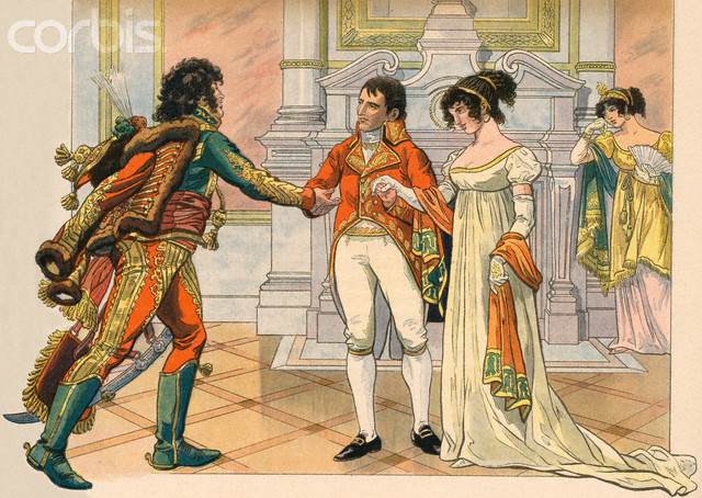 Illustration of Napoleon Offering Joachim Murat the Hand of His Sister Caroline by Jacques Onfroy de Breville