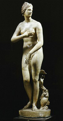 BFJD7Y The Medici VENUS Roman marble copy of Greek sculpture 3rd century BC