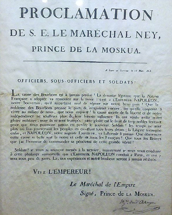 Ney_Proclamation_March_1815